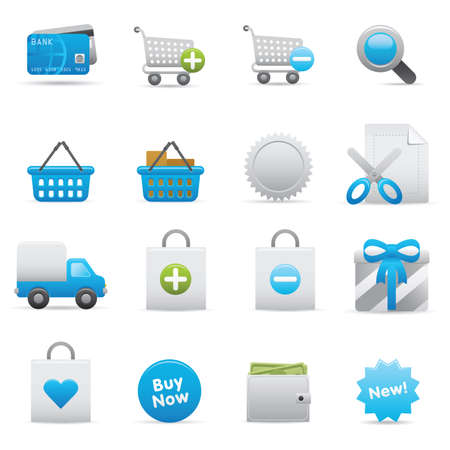 indigo: 13 Shopping Icons | Indigo  professional icons for your website, application, or presentation Illustration