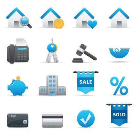 auction: 12 Real State Icons | Indigo  professional icons for your website, application, or presentation