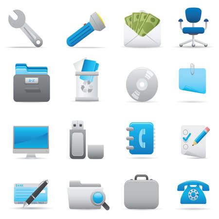 11 Office Icons | Indigo professional icons for your website, application, or presentation