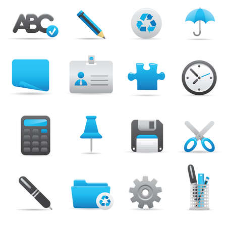09 Office Icons | Indigo professional icons for your website, application, or presentation