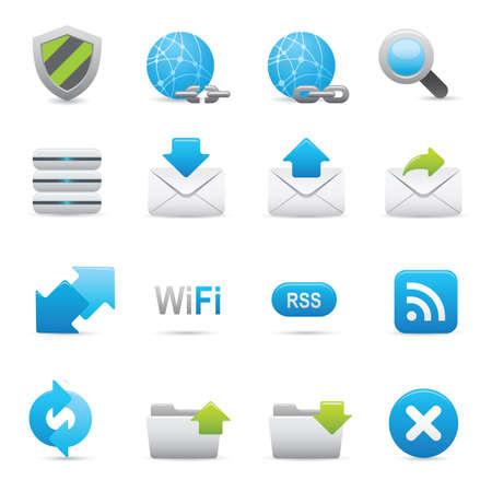 uploading: Icone di Internet 07 | Indigo icone professionali per il tuo sito Web, applicazione o presentazione Vettoriali