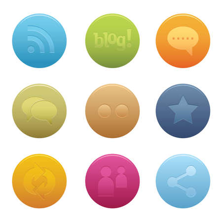 05 Circle Social Media Icons    Professional  set for your website, application, or presentation. The graphics can easily be edited colored individually and be scaled to any size