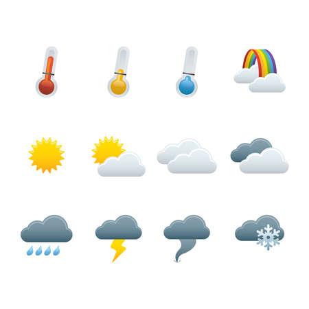 01 Weather Forecast Icons Vector