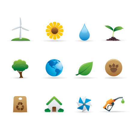 03 Ecology Icons Set Stock Vector - 7924200