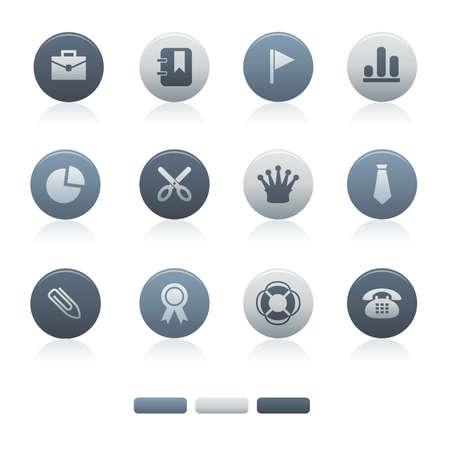 04 Mixed Gray Circle Office Icons