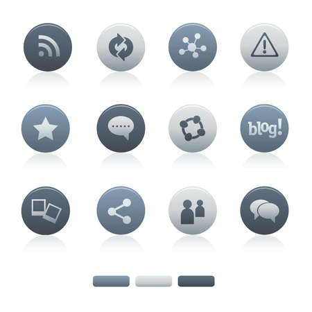 05 Mixed Gray Circle Social Media Icons Illustration