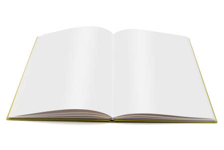 01 Blank Book Stock Photo