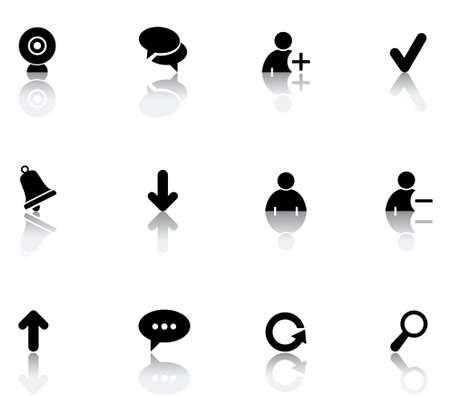 set icons featuring the principal international chat symbols Illustration