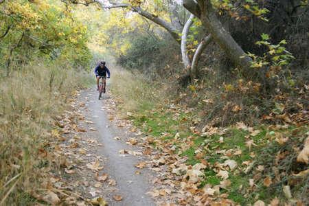 v cycle: Mountain bike ride in California Stock Photo