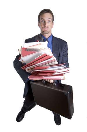 Overworked businessman photo