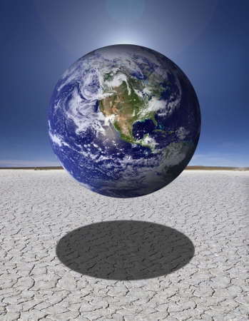 globetrotter: earth on the desert Stock Photo