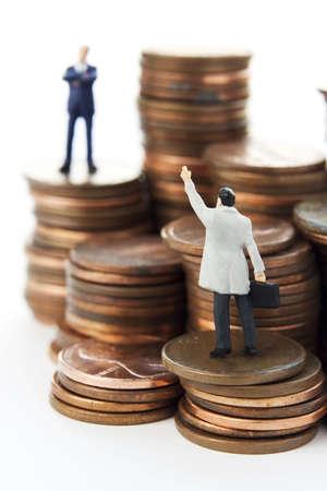 excise: Business cifre con il denaro. Archivio Fotografico