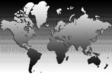 globetrotter: 3d rendered earth map