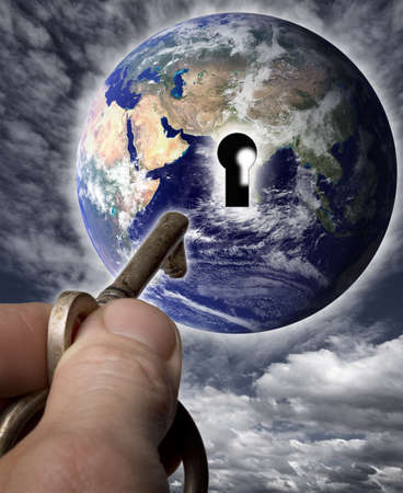 locking up: Earth with a keyhole