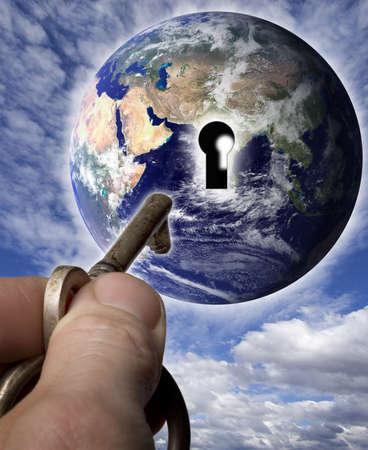 Earth with a keyhole