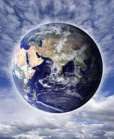 Earth against a dark sky Reklamní fotografie