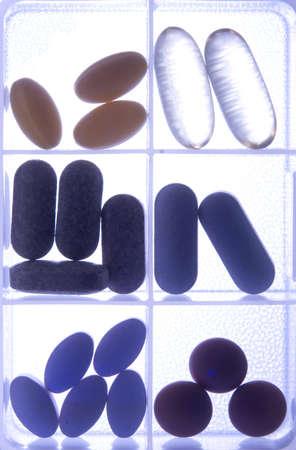Pillbox with vitamins and medicine