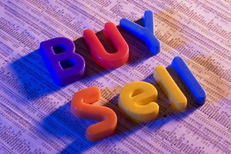 Toy Letters on stock report Banco de Imagens - 600306