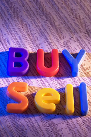 Toy Letters on stock report Banco de Imagens - 600283
