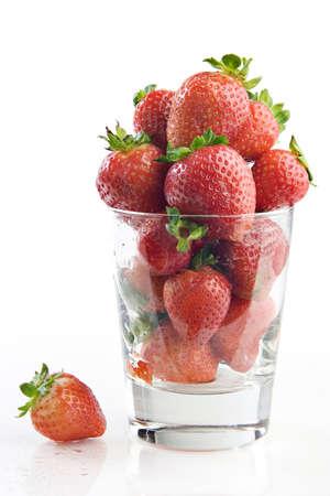 Strawberries in a glass Stok Fotoğraf