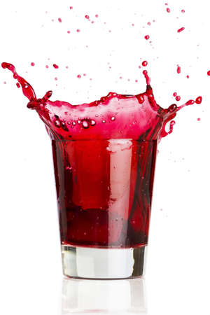 Red liquid splash