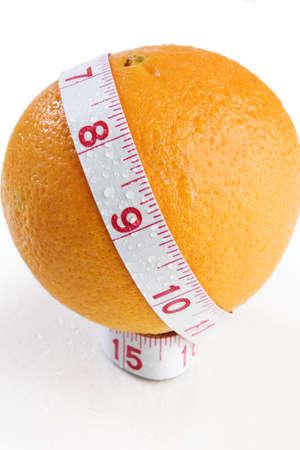オレンジと巻尺