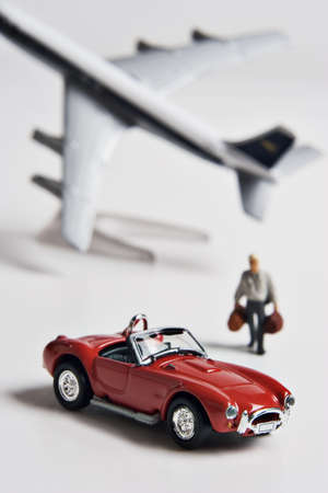 jetsetter: Figurine, toy car and toy airplane