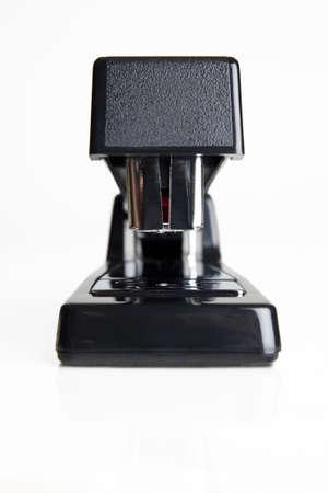office stapler: Stapler on white