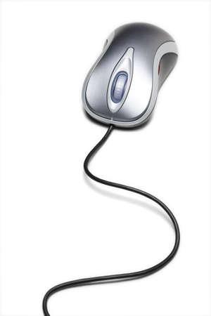 klick: Metallic Color Computer-Maus mit einer langen Schnur