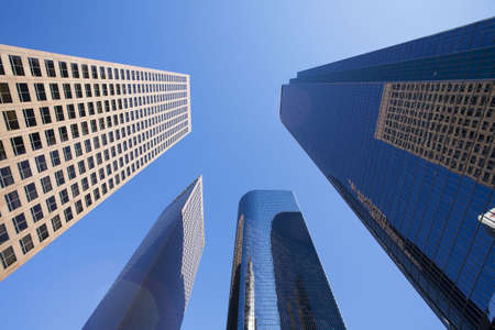 Office buildings in downtown Los Angeles