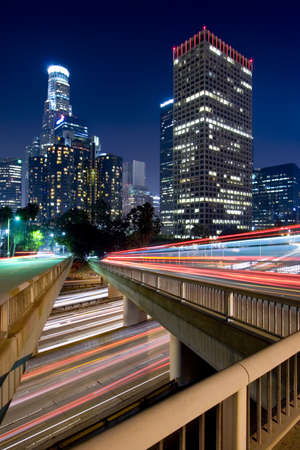 Los Angeles during rush hour at sunset Banco de Imagens - 7430692