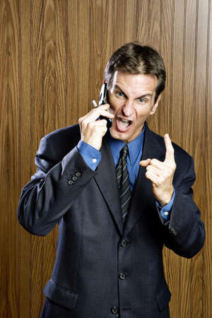 intolerable: Businessman on a cell phone yelling