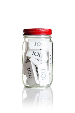 owe: IOU's in a jar