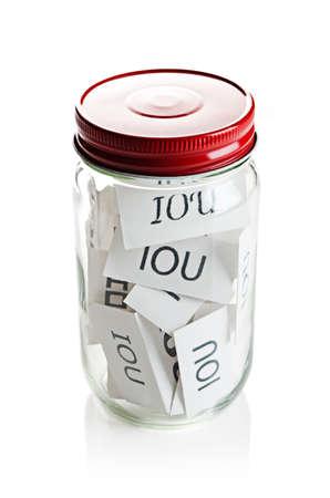 IOU's in a jar Banco de Imagens - 23990336