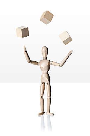 マネキン、解剖モデル、キューブをジャグリング 写真素材 - 24464687