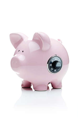dial lock: Piggy bank with a dial lock