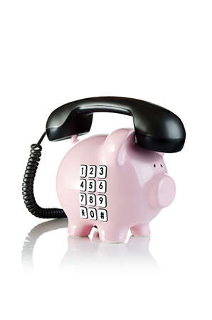 Time to call your banker  Piggy bank telephone