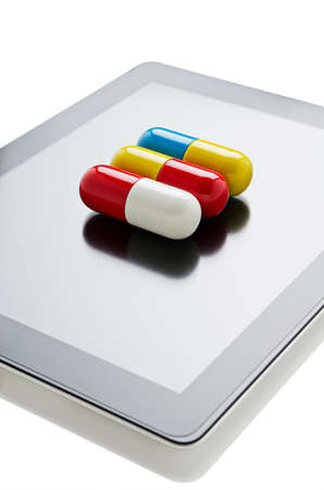 Pill on a digital tablet