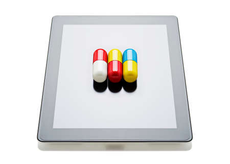 Pills on a digital tablet