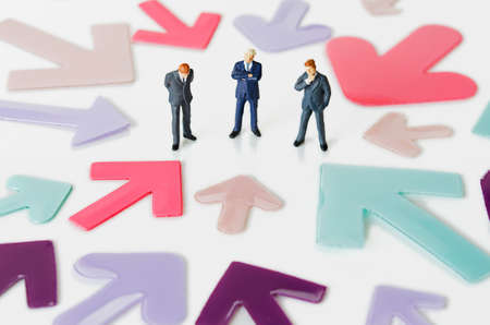 figurines: Business figurines with arrows