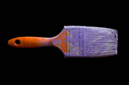 Paintbrush with purple paint