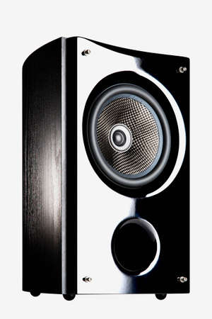 Audio speaker on a white background