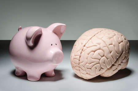 Piggy bank and human brain