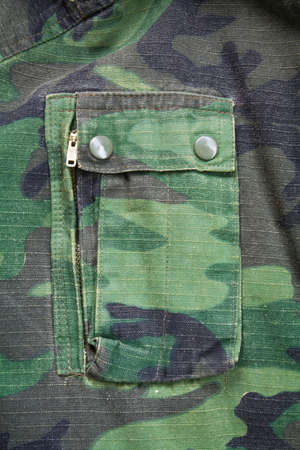 Camouflage cloth with pocket photo