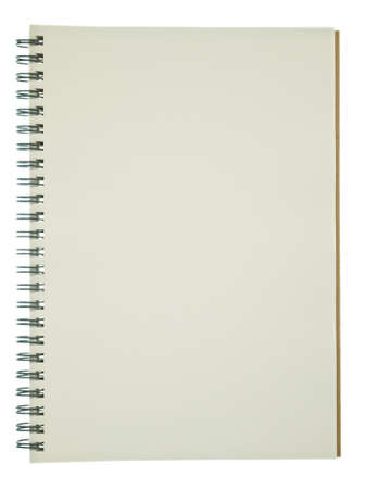 Clear page of recycle notebook  photo