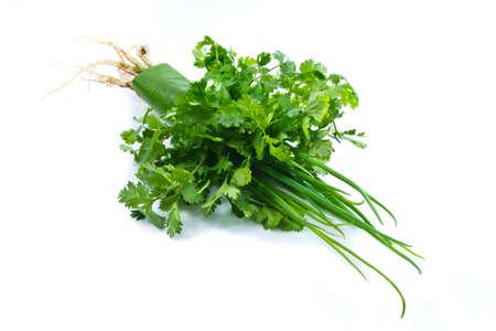 shallot: Parsley and green shallot vegetable