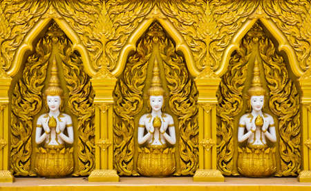 buddhist temple: Thai art design of temples wall