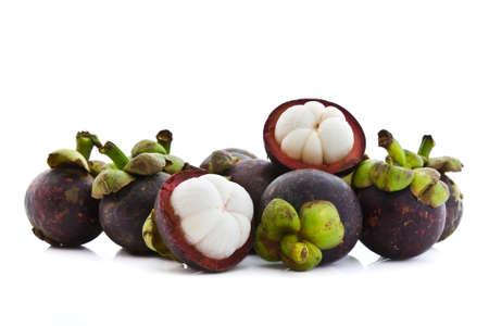mangosteen: Mangosteen tropical fruit Stock Photo