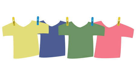 Colorful t-shirt with clpthespin photo