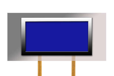 Blank display with wood post photo